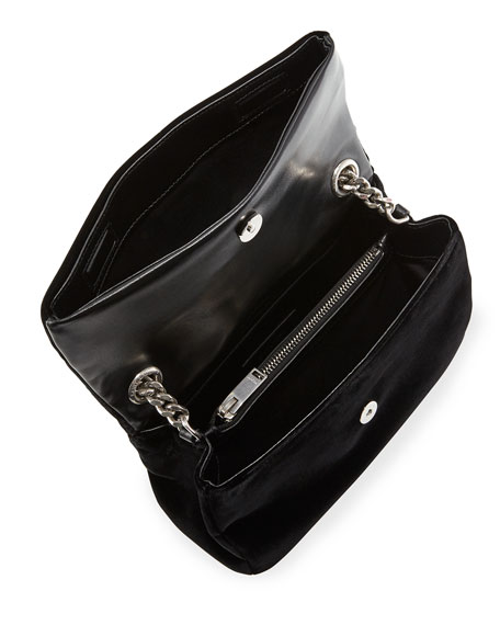 West Hollywood Monogram Small Velvet Shoulder Bag
