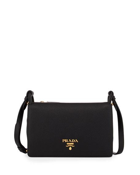 Prada Vitello Daino Double-Gusset Shoulder Bag