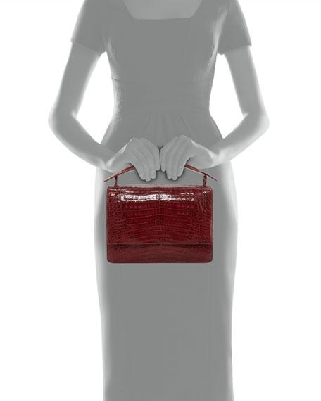 Crocodile Top-Handle Bag w/Chain Strap