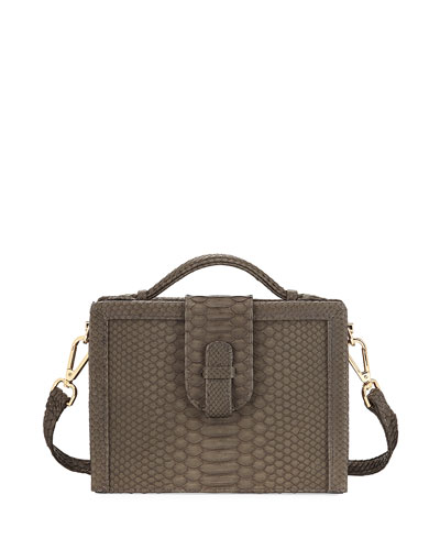 Mandolin Python Box Shoulder Bag