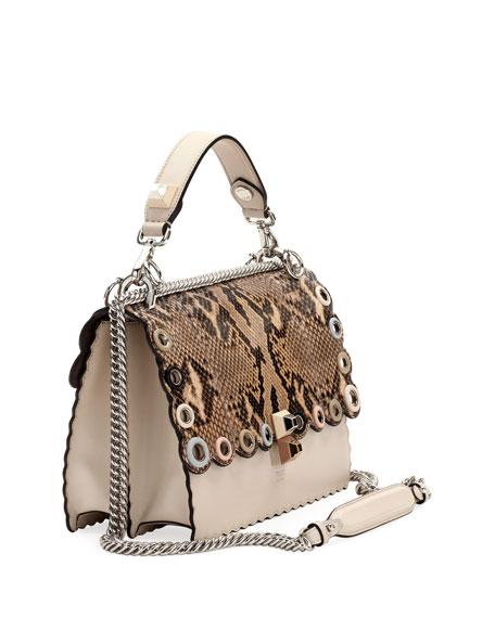 Kan I Regular Python and Calf Shoulder Bag