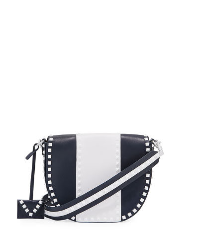 Free Rockstud Leather Saddle Shoulder Bag