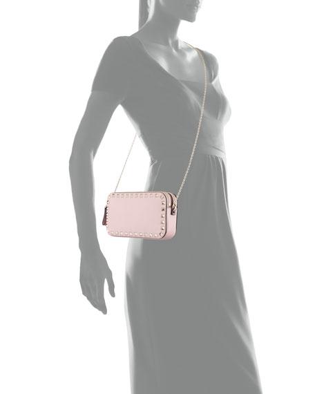 Rockstud Leather Chain Shoulder Pouch Bag