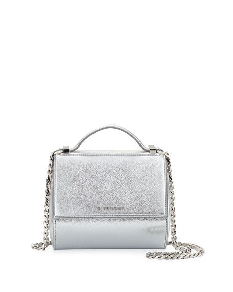 9ead0a9e56 Givenchy Pandora Box Mini Chain Shoulder Bag In Silver