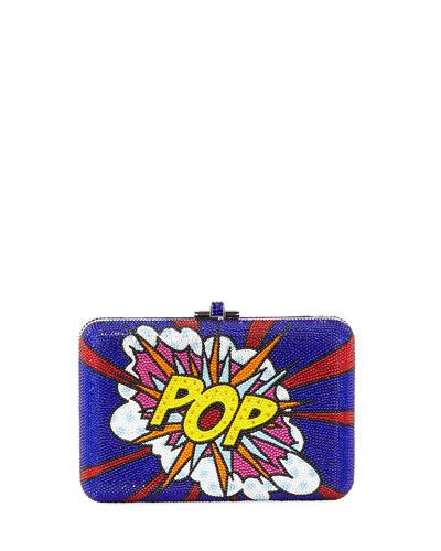 Pop Slim Slide Crystal Clutch Bag