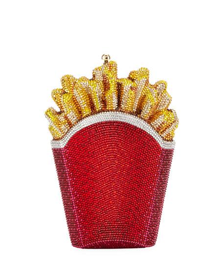 Fresh Hot French Fries Crystal Minaudiere Clutch Bag