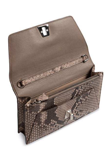 Anouk Python Envelope Clutch Bag
