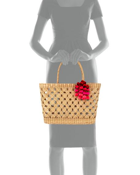 Marau Flores Pompom Tote Bag