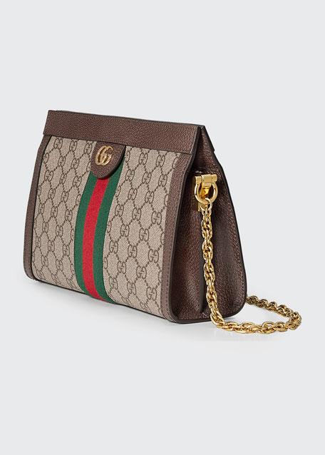 27050dff Linea Dragoni Small GG Supreme Canvas Chain Shoulder Bag