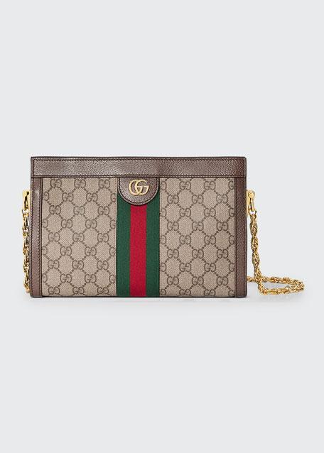 5131370c354 Gucci Linea Dragoni Small GG Supreme Canvas Chain Shoulder Bag