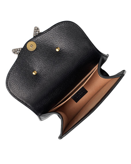 d9f45d201 Linea Totem Small Leather Shoulder Bag with Crystal Butterfly & Web Strap