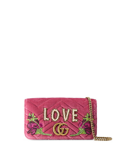 Small Full Flap Wallet-on-a-Chain with Love