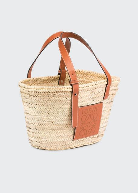 113983e8c0b Loewe Small Raffia Basket Tote Bag