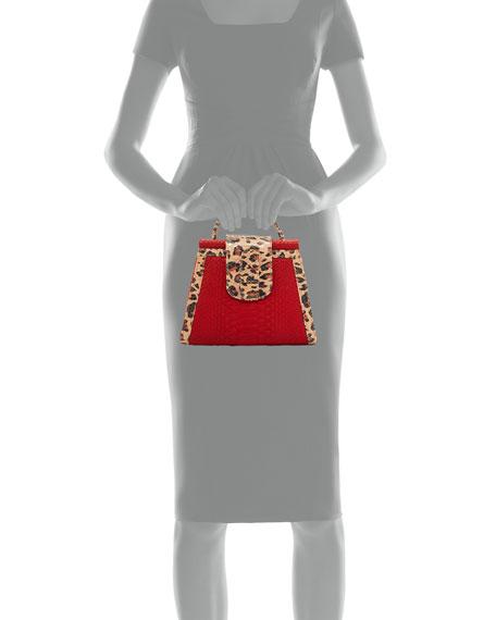 Violy Python Top-Handle Bag