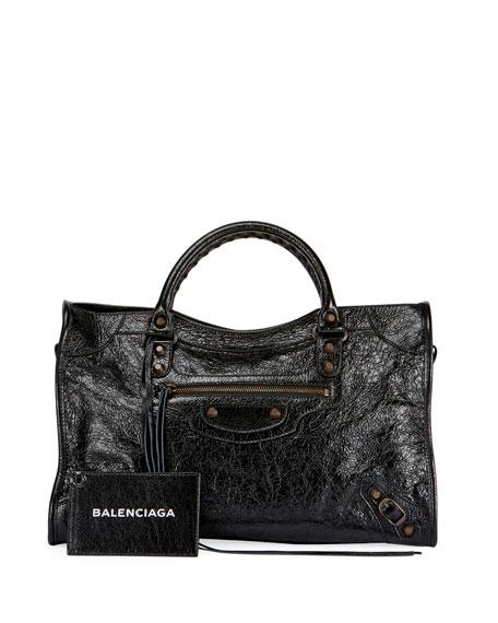 91934d017b Balenciaga Classic City AJ Satchel Bag with Logo Strap
