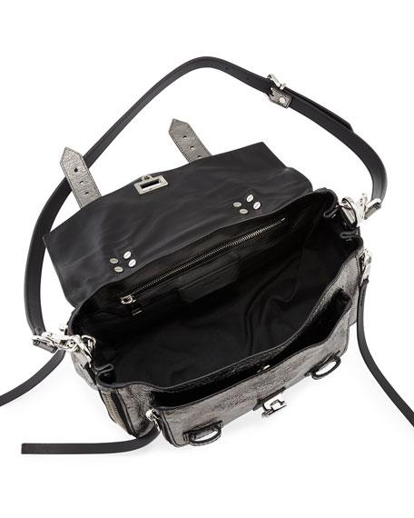PS1+ Tiny Metallic Leather Satchel Bag