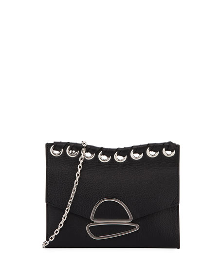 Small Curl Chain Clutch Bag with Strap