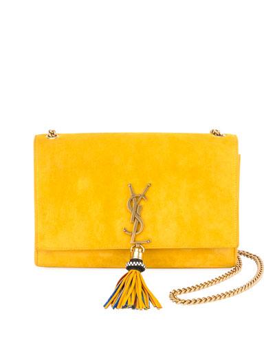 Monogram Medium Suede Wallet on a Chain