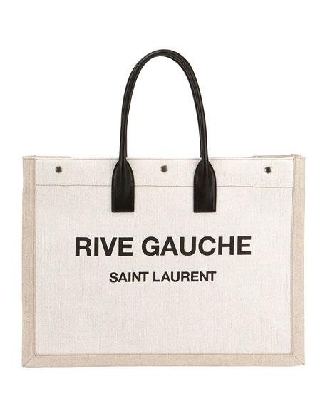 Noe Cabas Large Rive Gauche Canvas Tote Bag