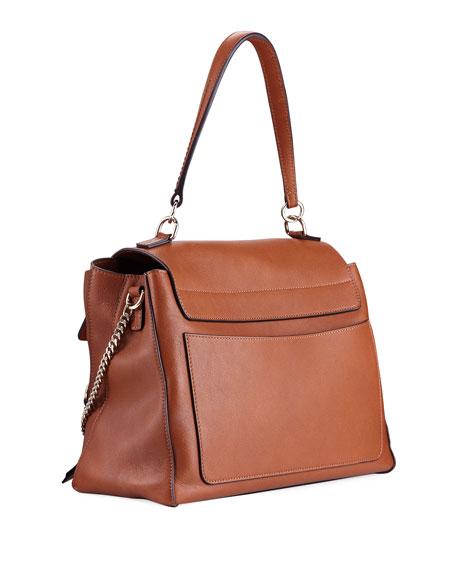 Faye Day Mixed Flap Medium Shoulder Bag