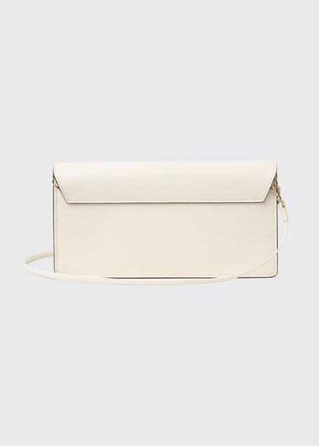 Iside Leather Envelope Clutch Bag