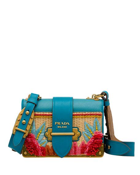 ad27af2530 Prada Raffia Cahier Crossbody Bag