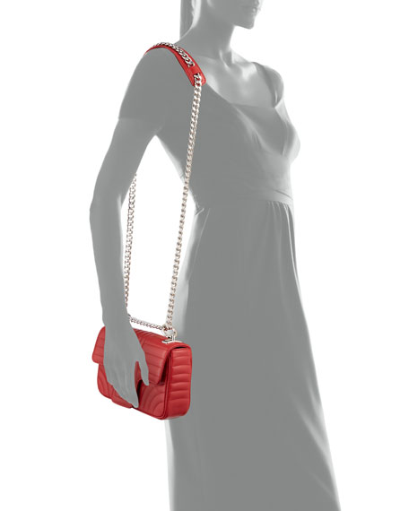 Small Diagramme Shoulder Bag with Chain Strap