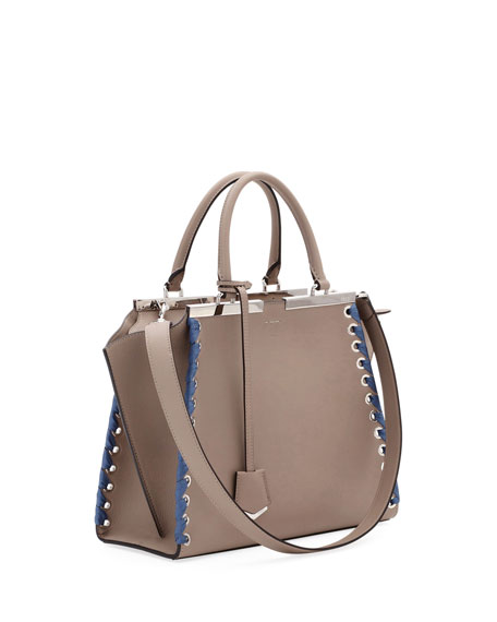 e48c9e0434aa Fendi 3Jours Medium Tote Bag with Ribbon Whipstitching