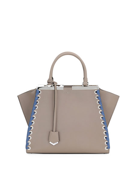 d75595d3f44b Fendi 3Jours Medium Tote Bag with Ribbon Whipstitching