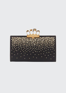 Knuckle Flat Pouch Clutch Bag by Alexander Mc Queen