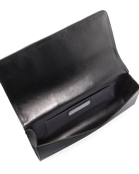 La Capitale Raffia Clutch Bag