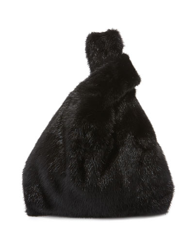 Furrissima Mink Fur Bag  Black