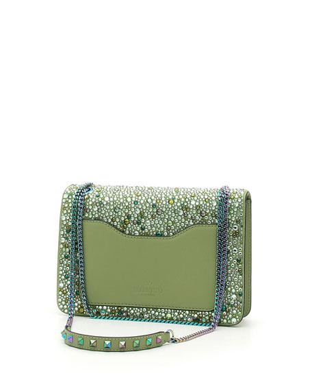 Demilune Small Crystal Shoulder Bag