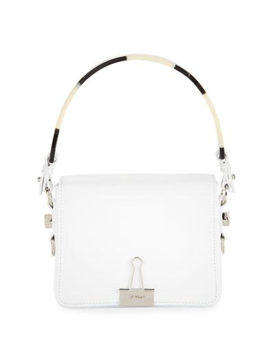 Smooth Leather Flap Crossbody Bag