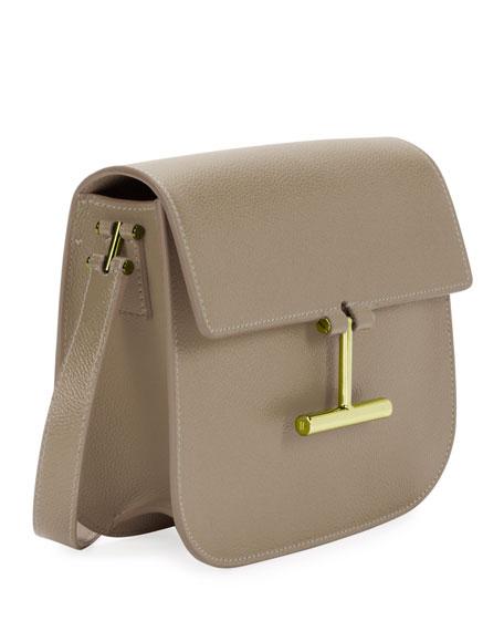 Mini Tara Grained Leather Crossbody Bag