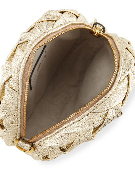 Pillow Layered Metallic Clutch Bag