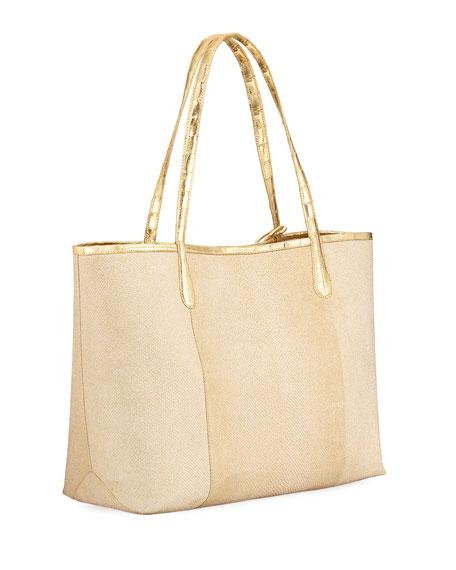 Erica Karung Snakeskin Leaf Tote Bag