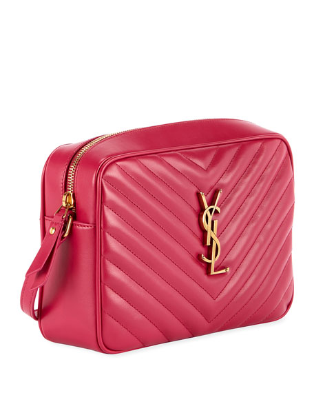 Saint Laurent Loulou Monogram Ysl Medium Chevron Quilted