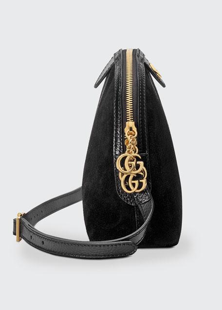 607ab216def Gucci Linea Dragoni Suede Small Chain Shoulder Bag