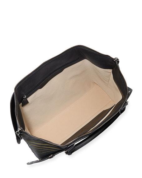 Aimee Small Herringbone Satchel Bag