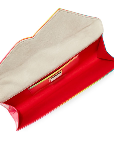 So Kate Baguette Patent Clutch Bag