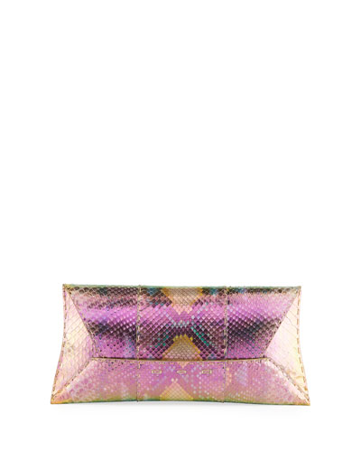 Manila Stretch Wave Maui Python Clutch Bag