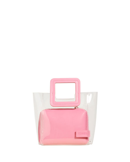 Shirley Mini PVC & Leather Tote Bag, Pink