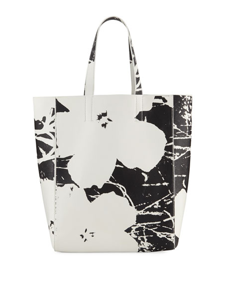 28720d512 CALVIN KLEIN 205W39NYC Andy Warhol Flower Soft Tote Bag