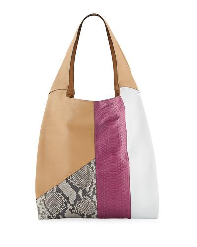 Grand Shopper Smooth Tote Bag, Neutral