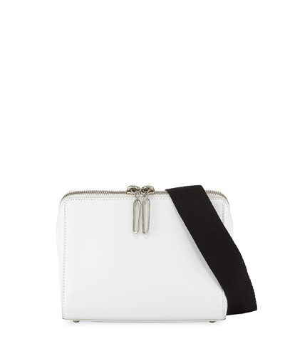 Leather Ray Triangle Crossbody Bag