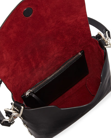 Atlas Leather Chain-Strap Shoulder Bag