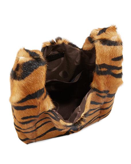 Furrissima Tiger Goat Fur Shopper Tote Bag