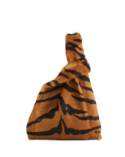 Furrissima Tiger Goat Fur Shopper Tote Bag