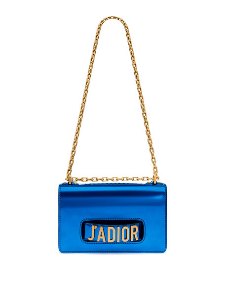 J'adior Medium Metallic Calfskin with Chain